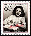 German Stamp of Anne Frank