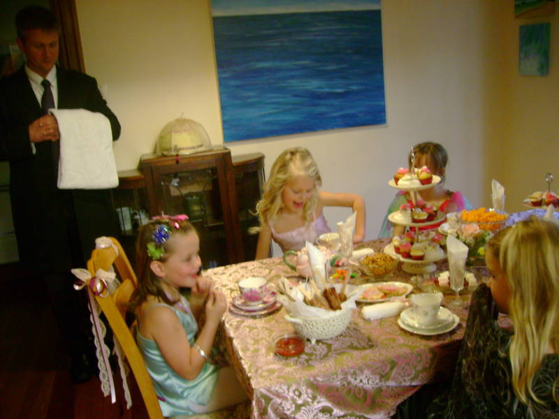Fancy Nancy Party - a gluten free tea party with Jeeves the butler