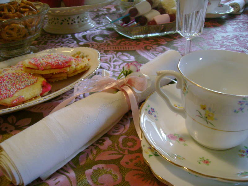Fancy Nancy Party - fancy tea party with vintage china