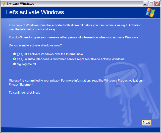 what happens if i dont activate windows xp