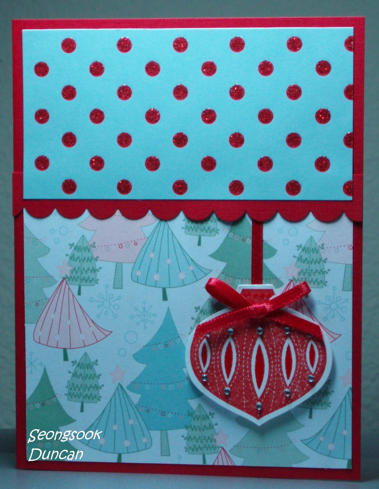 ... Creations... My Therapy, Your Cards!: 2 Christmas Cards for Challenges: seongsookduncan.blogspot.com/2010/11/2-christmas-cards-for...