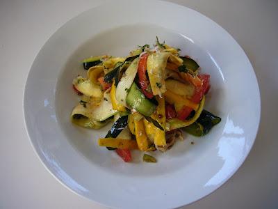 Jamie Oliver inspired zucchini salad