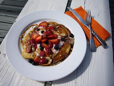 Jack's cornmeal pancakes