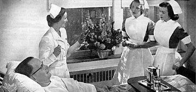 Nurse aids wearing aprons