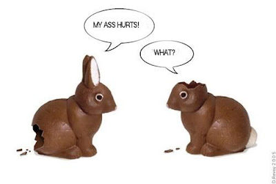 2 chocolate easter bunnies