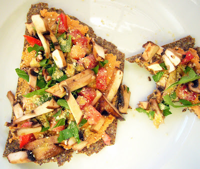 Raw Flatbread Pizza