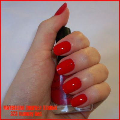 "Swatch: MAYBELLINE FOREVER STRONG No. 535 ""Runway Red"""