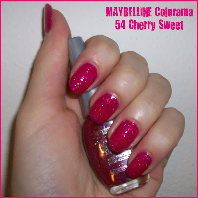 "Swatch: MAYBELLINE Colorama No. 54 ""Cherry Sweet"""