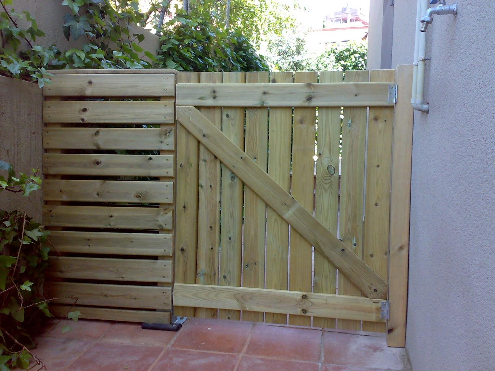 Ismael fernandez un manitas a - Puertas de madera para jardin ...
