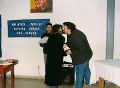 Acción cultural de Yaguarón Ediciones: donación de libros a Bibliotecas.