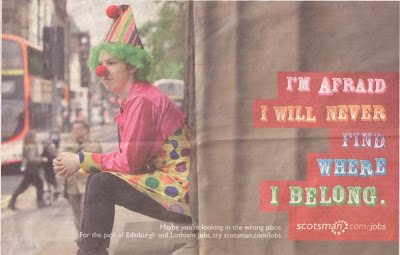 scotsman jobs clown ad