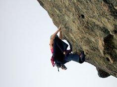 escalando en El trebol - Bariloche