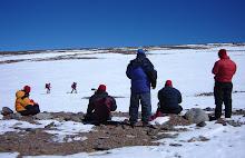 un set de rodaje de alta montaña