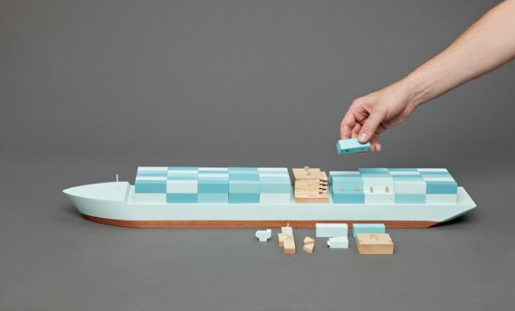 ... Best Part - A Daily Art and Design Blog: Wooden Container Ship Toys
