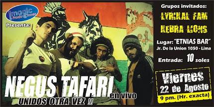 """Negus Tafari """"Unidos Otra Vez"""" en vivo"""