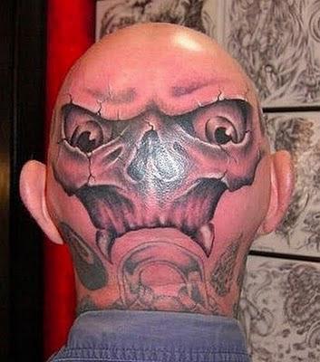 Alien Head Tattoo