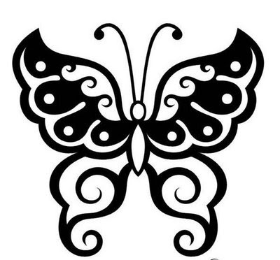BACK TATTOO DESIGN |TRIBAL UNIQUE. TRIBAL BUTTERFLY TATTOO