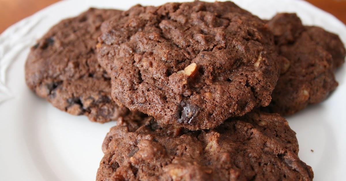 dolce schokoladen cookies mit pekann ssen. Black Bedroom Furniture Sets. Home Design Ideas