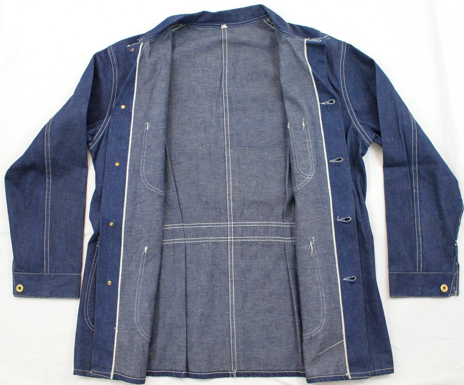 Vintage Workwear S Belt Back Selvedge Denim Jacket