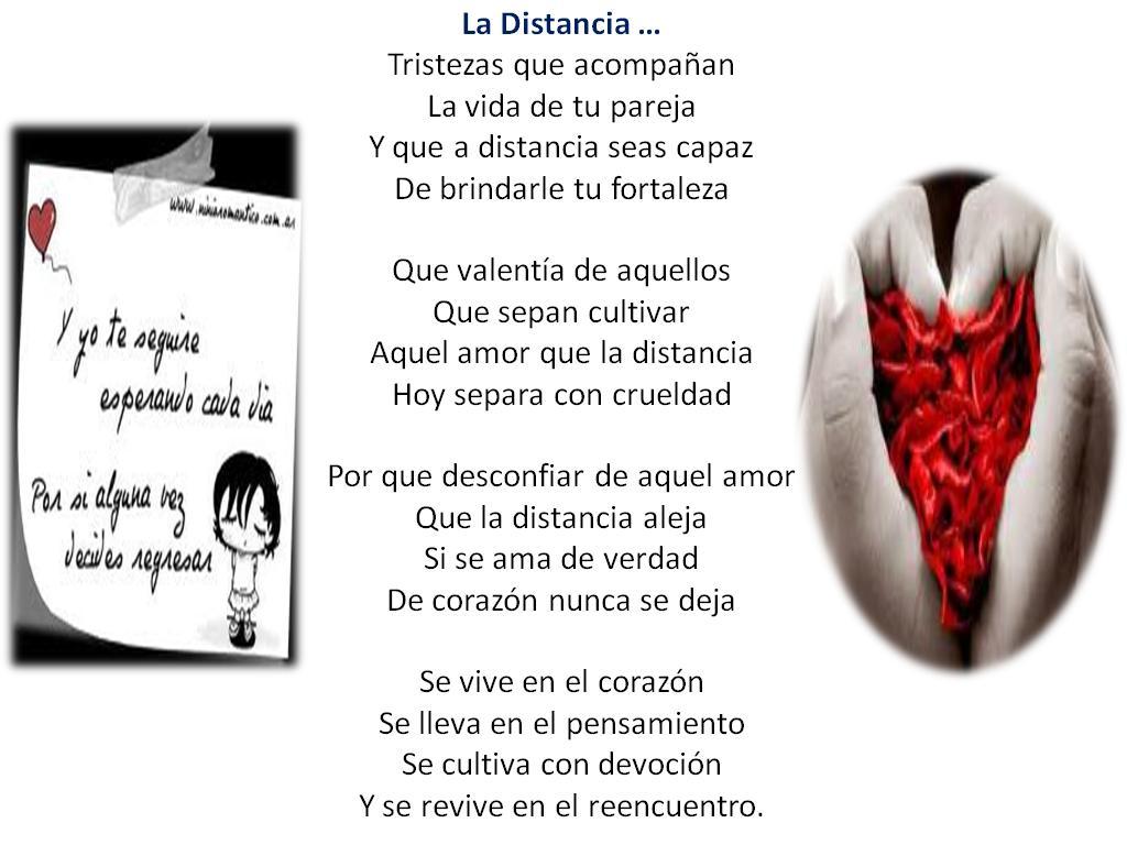 Poemas De Amor a La Distancia Para El
