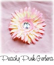 """4"""" Peachy Pink Gerbera"""