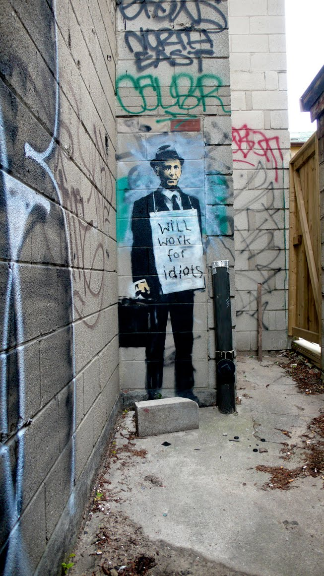 Two Kids From Vermont: David: Banksy's Work Seen In Toronto, Detroit, Seattle, Chicago and San ...