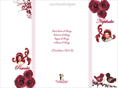 Sample Wedding Entourage List Invitation http://marinadesigns.blogspot.com/2009/12/wedding-invitation-designs-maroon.html