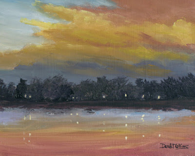 original,impressionist,lake,reflection,sunset,painting