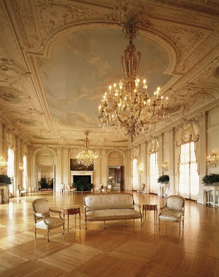 Brayton homestead interiors rosecliff mansion for Mansion floor plans with ballroom