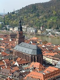 Heidelberg, Germany and the Church of the Holy Spirit