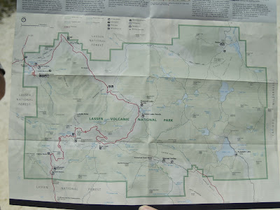 Mapa del Lassen Volcanic Park