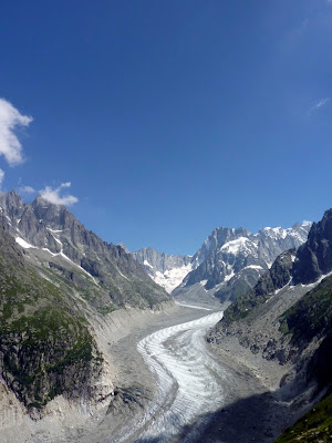 Vista del Mer de Glace