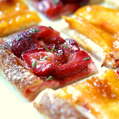 puff pastry fruit tart green fruits