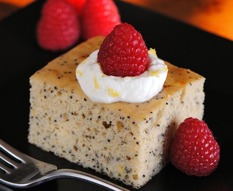JULES FOOD...: Lemon Poppy Protein Cake
