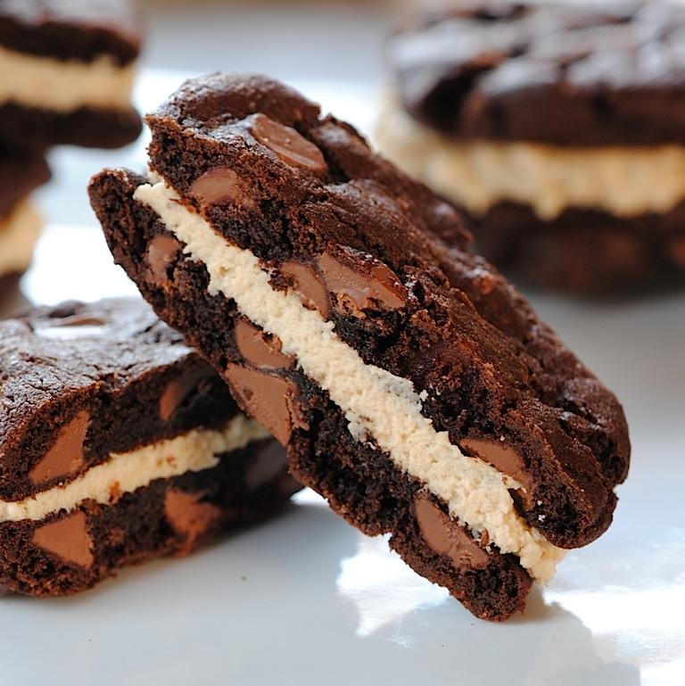 JULES FOOD...: Double Chocolate-Espresso Sandwich Cookies ...