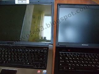 Глянцевый экран ASUS F5RL и матовый экран Lenovo E43
