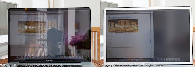 глянцевый и матовый MacBook Pro