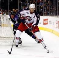 Rick Nash of the Columbus Blue Jackets