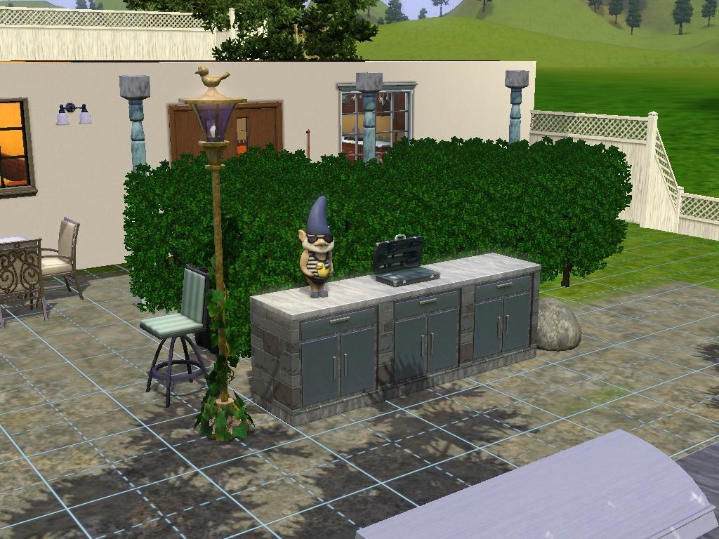 blackgamersims jugando a los sims 3 patios y jardines y