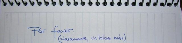 .Por Favor (un blog más).