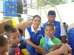 Se repartieron regalos a los niños y niñas pertenecientes a la Red JUNTOS.