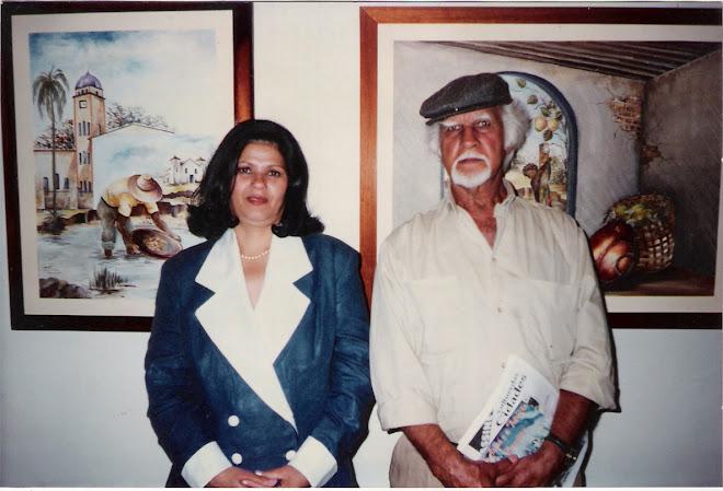 Pintora Tuira, ao  lado do Mestre D.J.Oliveira, renomado artista plástico.