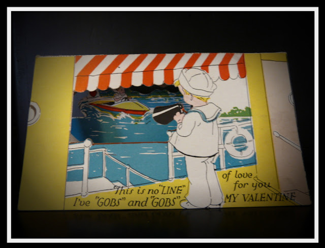 free printable vintage valentine card 3d