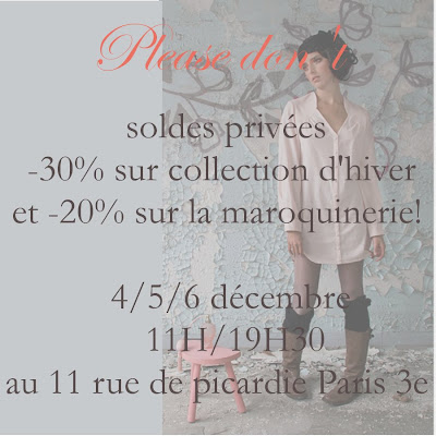 vente privee please don't haut marais paris
