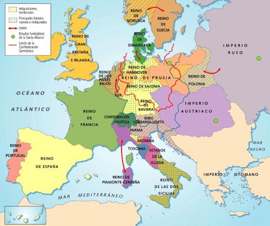 El pasado del tiempo Europa del mapa de 1815 al de 1914 balance