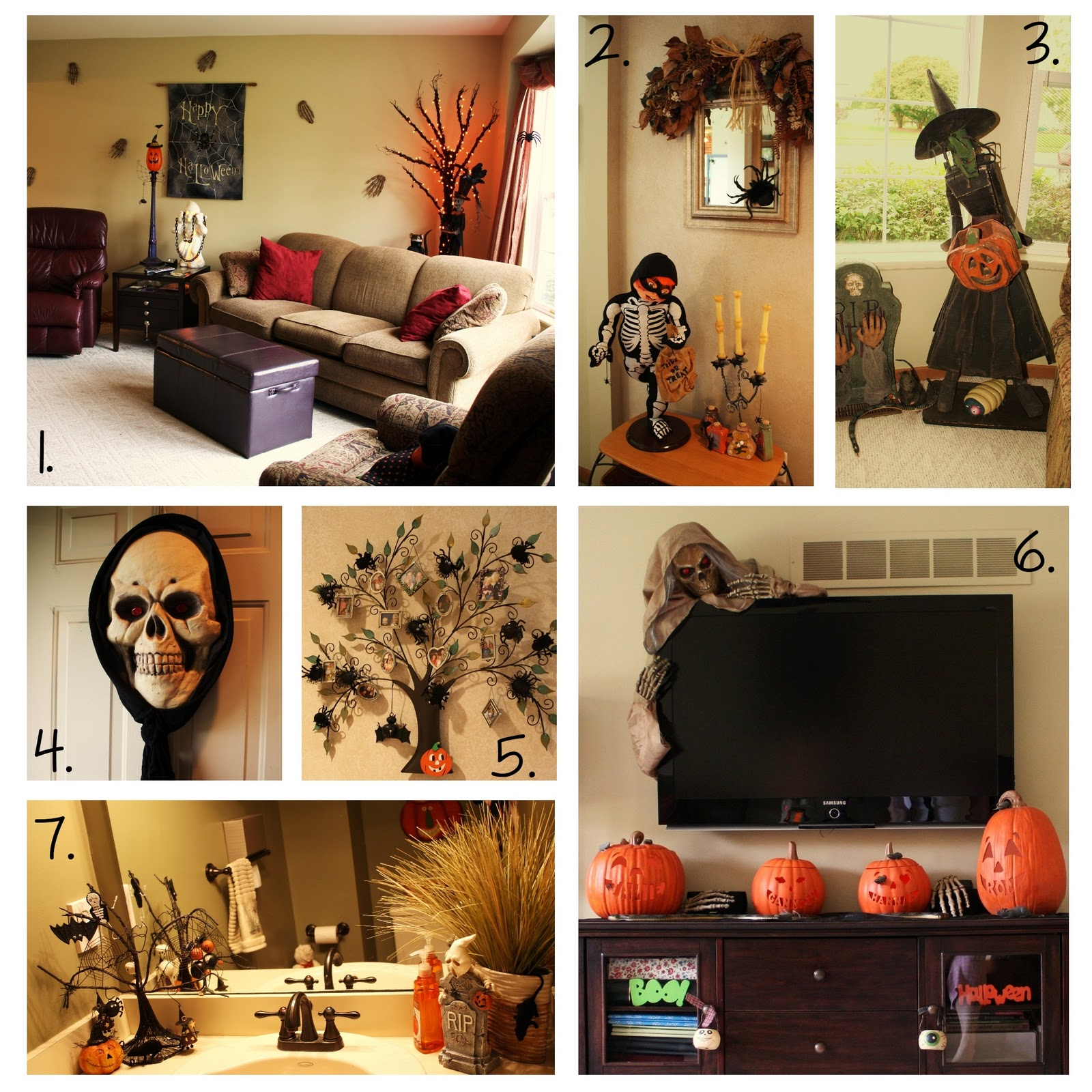 bits of paper halloween decor well some of it. Black Bedroom Furniture Sets. Home Design Ideas