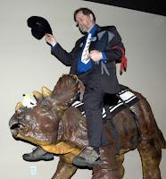PZ rides the dino