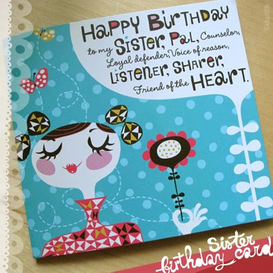 into a 'happy birthday to my sister' musical card for Hallmark.