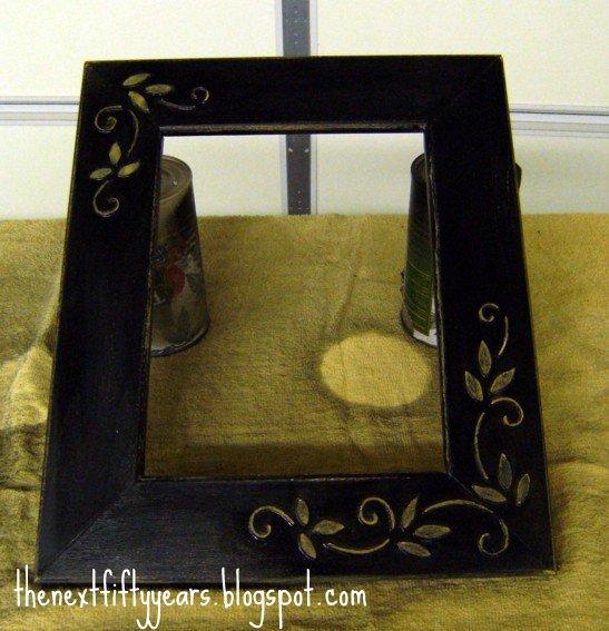 marti 39 s diy make a cheap picture frame with raised design. Black Bedroom Furniture Sets. Home Design Ideas