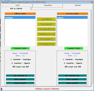 Control Programı v2 / uzak sql ve local sql bağlantısı ile Control,program%C4%B1,v2,gm,user,ekran%C4%B1